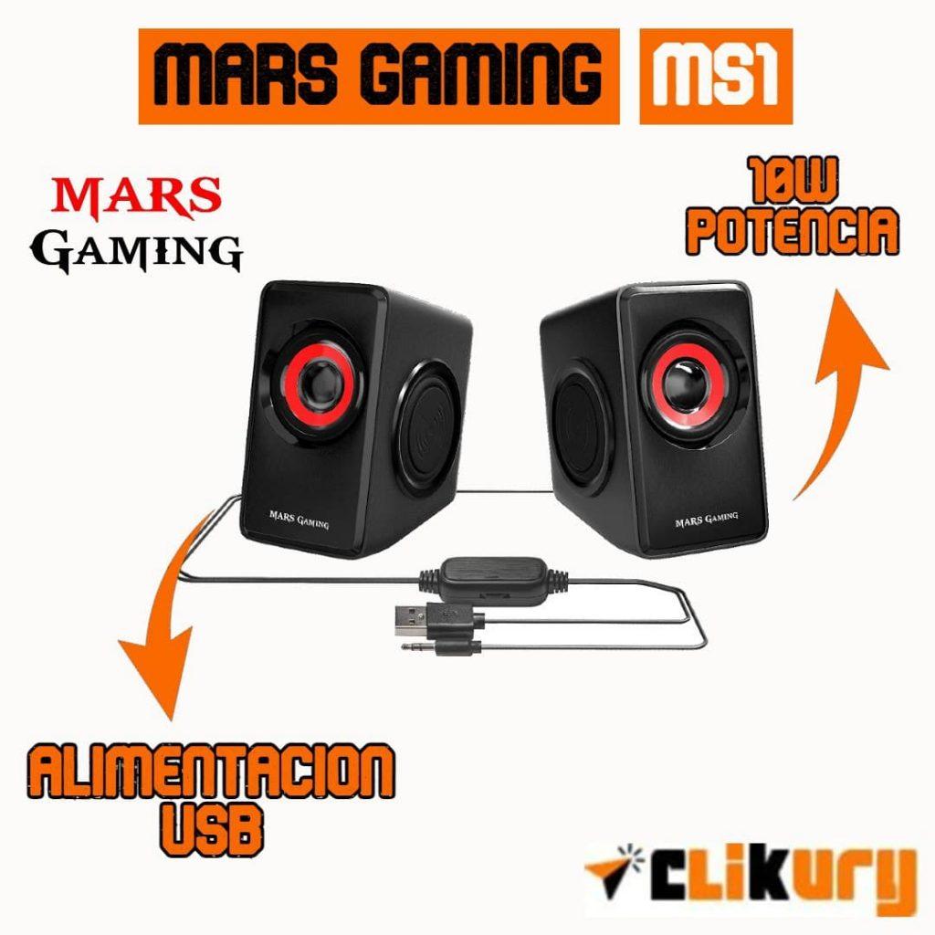 altavoces mars ms1 negro rojo gaming
