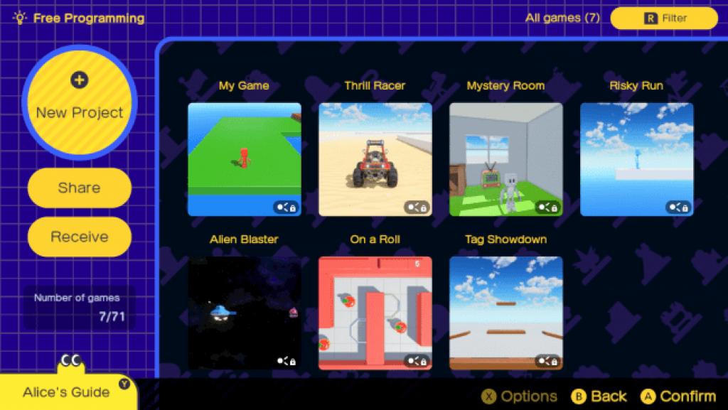 crear videojuegos Game Builder Garage