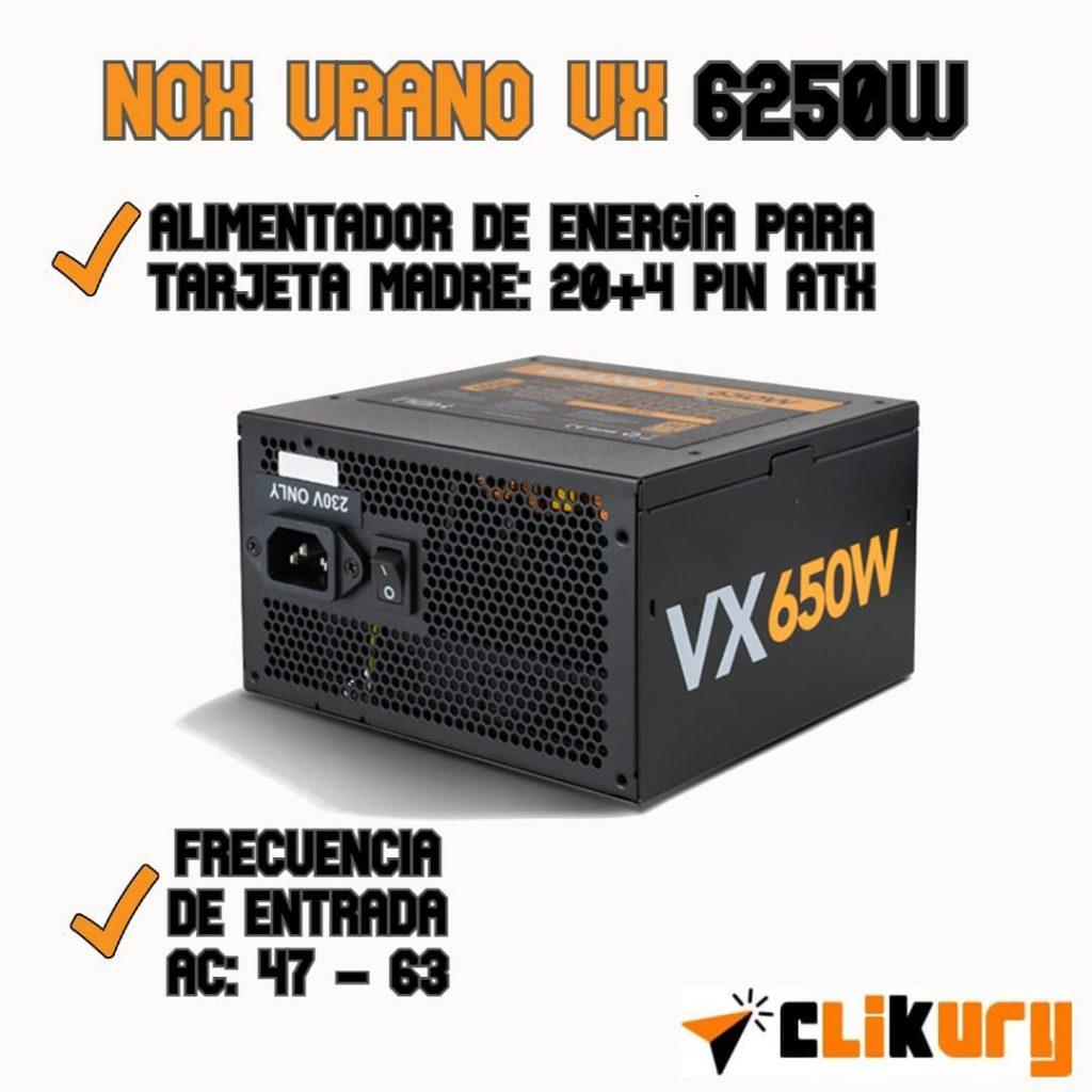 fuente alimentacion nox urano vx 650w analisis español