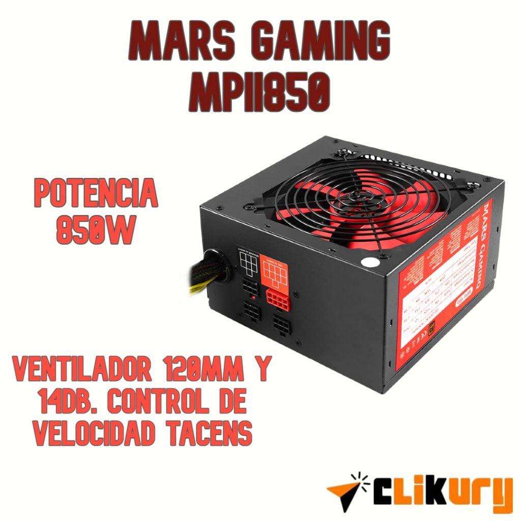 fuente de alimentación Mars Gaming MPII850