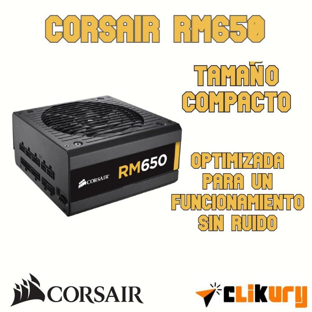 fuente de poder Corsair RM650