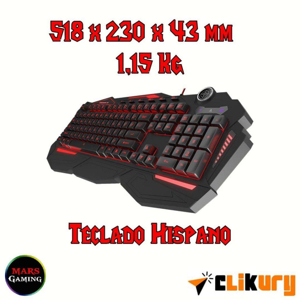 teclado hibrido mars gaming mk3