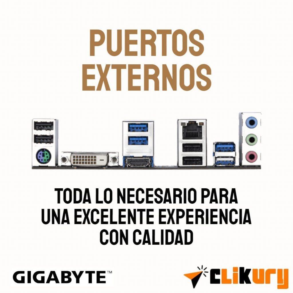 puertos externos Gigabyte B550M DS3H analisis