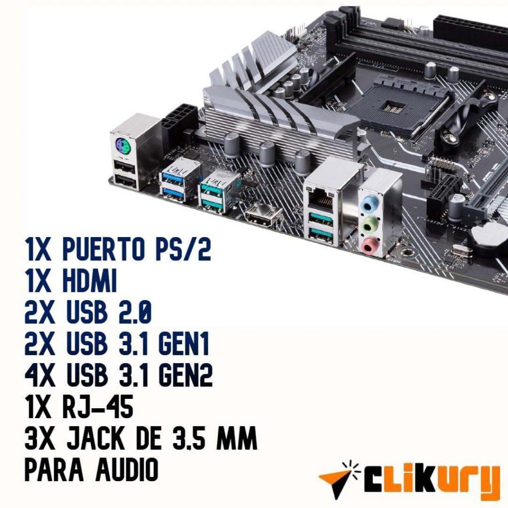 conexiones Asus Prime X570-P