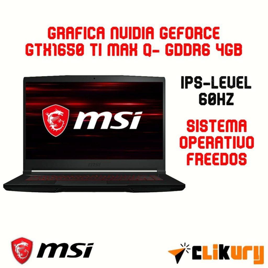 portátil gaming MSI GF63 Thin 10SCSR876XES