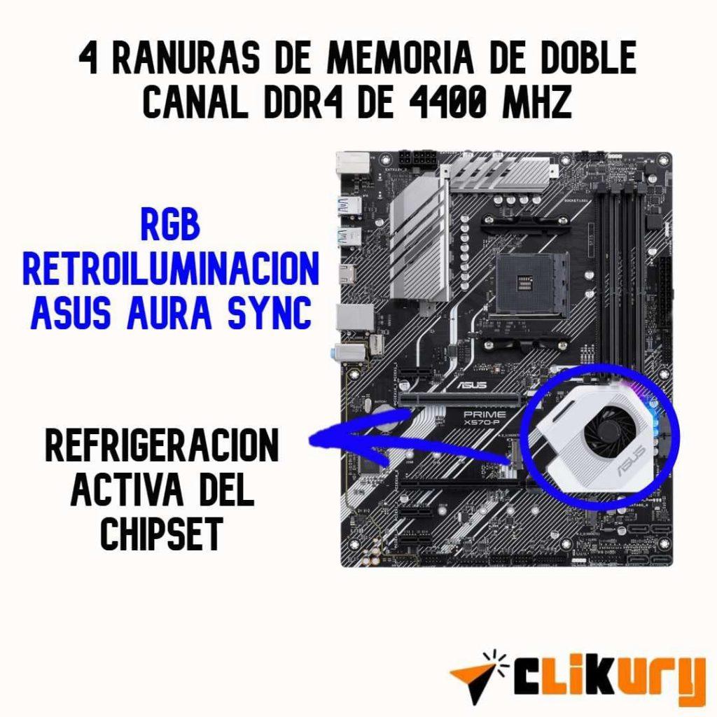 tarjeta madre Asus Prime X570-P review español