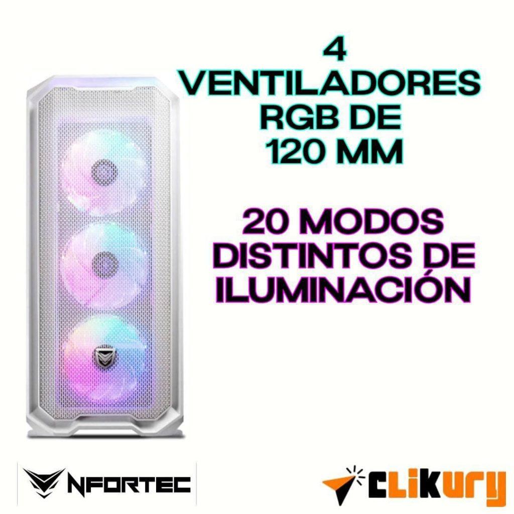 torre gaming Nfortec Krater análisis español