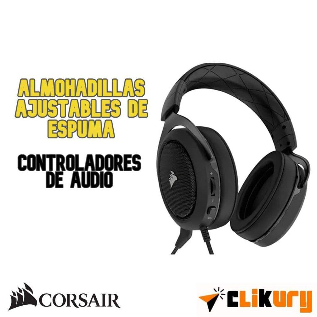 audífonos Corsair HS50 Pro review español