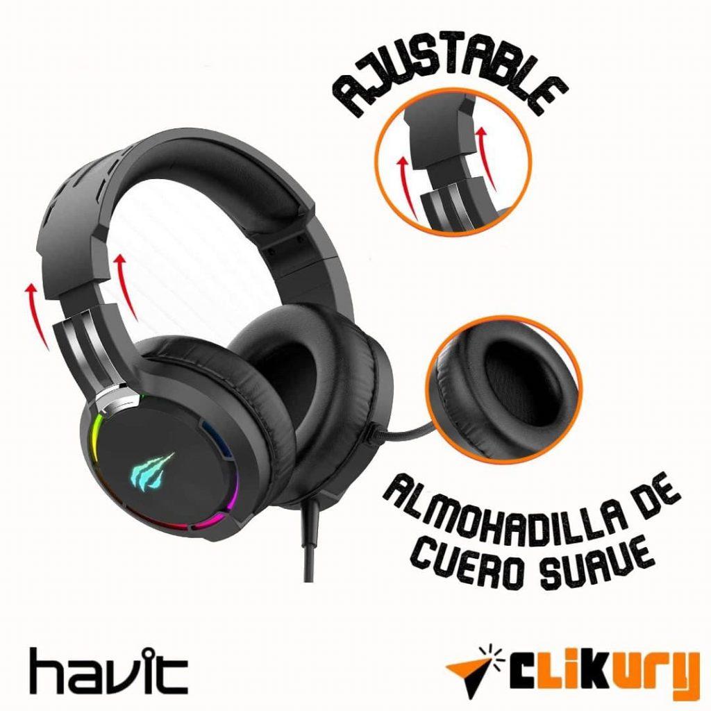 cascos gamer Havit H2010D especificaciones