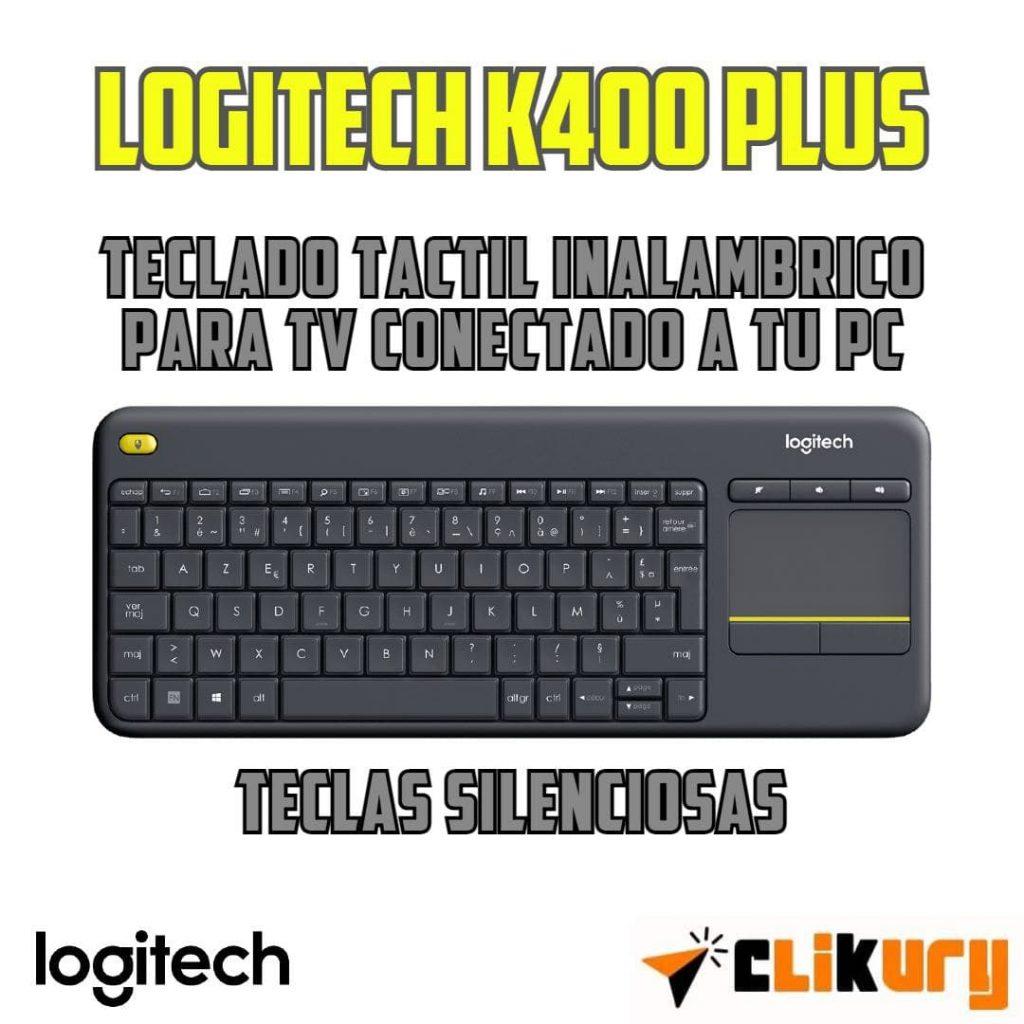 teclado inalambrico Logitech K400 Plus analisis español