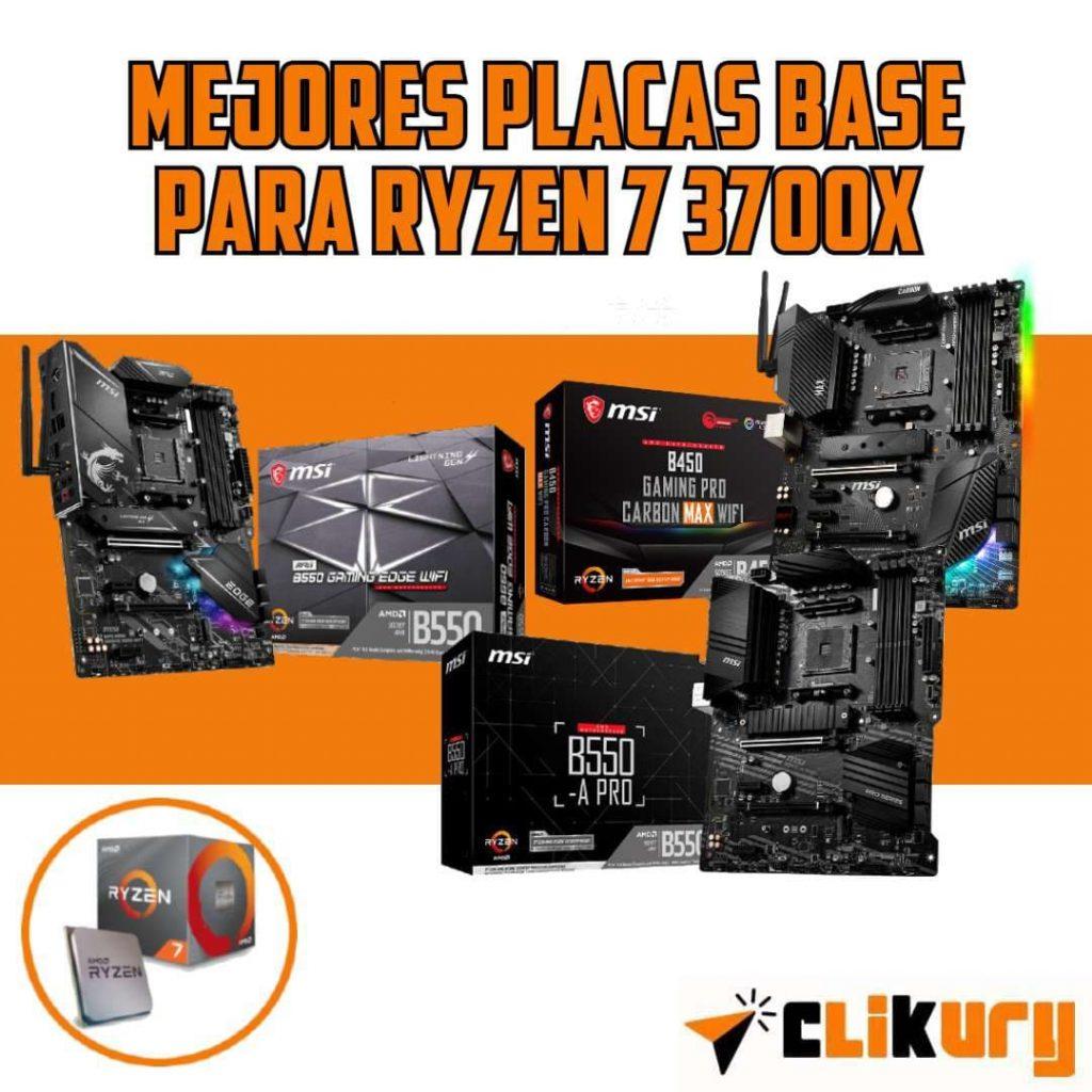 lista de las mejores placas madre para el procesador AMD Ryzen 7 3700x