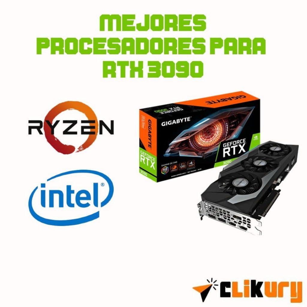 mejores procesadores para la tarjeta grafica RTX 3090