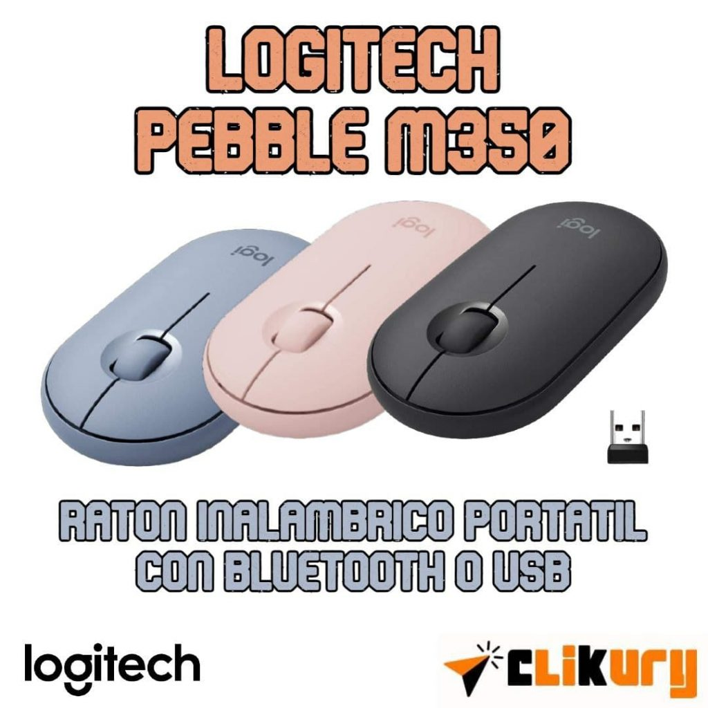 ratón inalambrico Logitech Pebble M350 analisis español